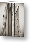 Historic Lighthouse Greeting Cards - Schooner Pride Tall Ship Charleston SC Greeting Card by Dustin K Ryan