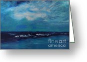 Lam Lam Greeting Cards - Seascape Greeting Card by Lam Lam