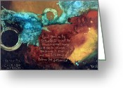 Religious Mixed Media Greeting Cards - Serenity Prayer  Greeting Card by Michel  Keck