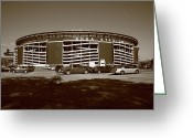 Shea Stadium Greeting Cards - Shea Stadium - New York Mets Greeting Card by Frank Romeo