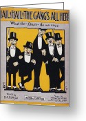 Smoker Greeting Cards - Sheet Music Cover, 1917 Greeting Card by Granger