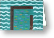Storm Prints Painting Greeting Cards - Shelter Greeting Card by Patrick J Murphy