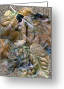 Hug Digital Art Greeting Cards - Sheltered Greeting Card by Kurt Van Wagner
