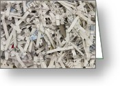 Organized Crime Greeting Cards - Shredded Paper Greeting Card by Blink Images