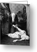 Tuxedo Greeting Cards - Silent Film Still: Fainting Greeting Card by Granger
