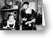 Typewriter Greeting Cards - Silent Film Still: Women Greeting Card by Granger