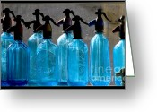 Drain Greeting Cards - Soda bottles Greeting Card by Odon Czintos
