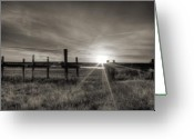Sepia Greeting Cards - Sol Legare Sunset Greeting Card by Dustin K Ryan