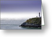 Stack Framed Prints Greeting Cards - South Stack Lighthouse Greeting Card by Gary Finnigan