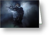 Special Weapons Greeting Cards - Special Operation Forces Combat Divers Greeting Card by Tom Weber
