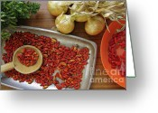  Color  Colorful Greeting Cards - Spicy still life Greeting Card by Carlos Caetano