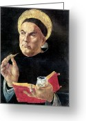 Renaissance Greeting Cards - St. Thomas Aquinas Greeting Card by Granger