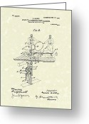 Magic Drawings Greeting Cards - Stage Illusions 1906 Patent Art Greeting Card by Prior Art Design