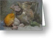 Silver Pitcher Greeting Cards - Still Life Greeting Card by Roger Clark