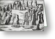 Most Photo Greeting Cards - Stonehenge, 17th Century Artwork Greeting Card by Middle Temple Library