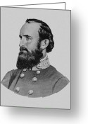 Rebel Greeting Cards - Stonewall Jackson Greeting Card by War Is Hell Store