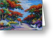 Bay Islands Painting Greeting Cards - Summer in Savannah Greeting Card by John Clark