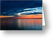 Shorelines Greeting Cards - Sunset Greeting Card by Gert Lavsen