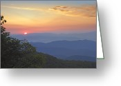 U.s. National Forest Greeting Cards - Sunset Over The Pisgah National Forest Greeting Card by Tim Fitzharris
