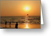 Arabian Photographs Greeting Cards - Sunset Photography Greeting Card by Zoh Beny