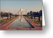 Minarets Greeting Cards - Taj Mahal Greeting Card by Benjamin Matthijs