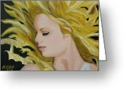 Taylor Guitar Greeting Cards - Taylor Swift Fearless Greeting Card by Hubert Ebel