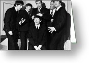 Paul Mccartney Greeting Cards - The Beatles, 1964 Greeting Card by Granger