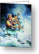 Sports Art Greeting Cards - The Explorers Greeting Card by Hanne Lore Koehler
