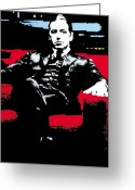 Michael Corleone Greeting Cards - The Godfather Greeting Card by Luis Ludzska