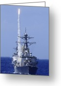 Guided Missile Destroyers Greeting Cards - The Guided-missile Destroyer Uss Greeting Card by Stocktrek Images