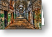 Old Doors Greeting Cards - The long Walk Greeting Card by Arnie Goldstein