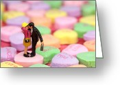 Kid Digital Art Greeting Cards - The Lovers in Valentines Day Greeting Card by Mingqi Ge