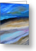Expressionism Earth Greeting Cards - The Magic Hour Greeting Card by David Johnson