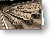 America Art Greeting Cards - The Old Ballpark Greeting Card by Frank Romeo