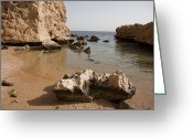 Sheikh Greeting Cards - The Rocky Arid Coastline Of The Red Sea Greeting Card by Taylor S. Kennedy