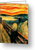 Scream Greeting Cards - The Scream Greeting Card by Pg Reproductions