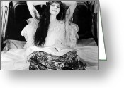 Nightgown Greeting Cards - Theda Bara (1885-1955) Greeting Card by Granger
