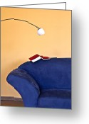 Couch Greeting Cards - Time to read Greeting Card by Joana Kruse