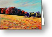 Autumn Landscape Pastels Greeting Cards - Tomorrow Afternoon Greeting Card by Richard Knox