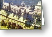 Fall Photographs Painting Greeting Cards - Transylvania landscape Greeting Card by Odon Czintos