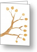Japan Painting Greeting Cards - Tree Branch Greeting Card by Frank Tschakert