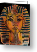Tutankhamen Greeting Cards - Tut Greeting Card by Ashley Henry