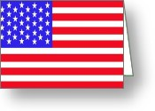 Fifty Stars Greeting Cards - United States Flag Greeting Card by Jessica Cruz