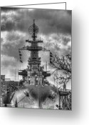 Wilmington Greeting Cards - U.S.S. North Carolina Greeting Card by JC Findley