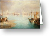 Bay Islands Painting Greeting Cards - Venice Greeting Card by Thomas Moran