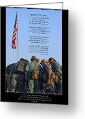 Beginnings Greeting Cards - Veterans Remember Greeting Card by Carolyn Marshall