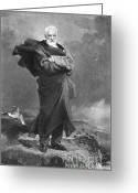 Chevalier Greeting Cards - Victor Hugo, French Author Greeting Card by Photo Researchers