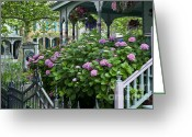Cape May Nj Photo Greeting Cards - Victorian house and garden Greeting Card by John Greim