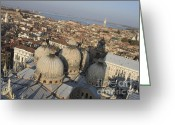 Basilica San Marco Greeting Cards - View of Venice Greeting Card by Bernard Jaubert