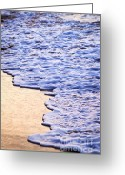 Sparkling Greeting Cards - Waves breaking on tropical shore Greeting Card by Elena Elisseeva